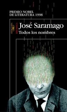 Portada Todos los nombres de José Saramago